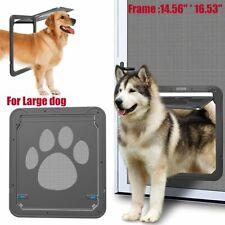 Pet Large Dog Lockable Flap Door Magnetic Lock Door Gate Frame for Screen Window