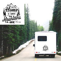 Home where the mountains are Sticker Caravan Motorhome Camper Truck Van Decal