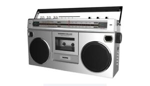 ION Audio - Retro Boombox with AM/FM Radio - Silver **New With Box