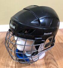 New listing Adult Mens Reebok 5K Ice Hockey Helmet Size Large Black Bauer Face Mask