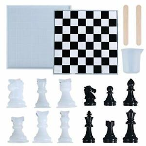 International Chess Silicone Resin Molds, Classic Chess Checkers Board Game,