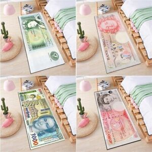 Non Slip Large Area Rugs Bedroom Carpet Money Washable Mat GBP Room Banknote