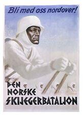 German Norske Norway WW2 Ski Waffen SS large Poster