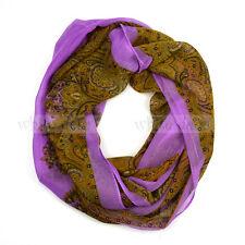 Western Paisley Floral Flower Pattern Circle Loop Infinity Scarf Spring Summer