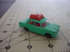Old Vtg Matchbox Lesney Fiat 1500 Turquoise Diecast Toy Car Luggage Rack England