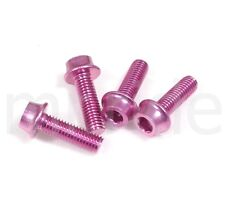 mr-ride Water Bottle Cage bolts screws M5x15mm Pink 4pcs