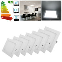 10/4x 24W 18W 15W 12W 9W LED Recessed Ceiling Panel Light Cool White Office Lamp