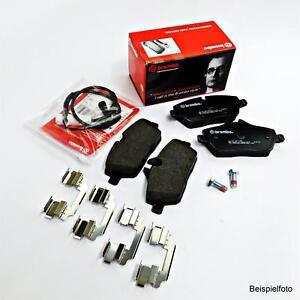 Orig. Brembo Brake Pads+Sensor for BMW E39 Soda 520-540i 520-530d Rear