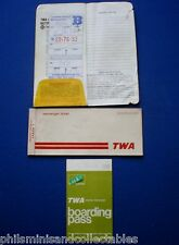 TWA Flight Ticket Booklet    -  1976