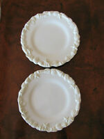 """JC Penney Water - Embossed Shells & Starfish  - Set of 2 Dinner Plates - 11 1/8"""""""