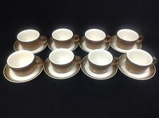 Mikasa Buckskin Ben Seibel Potters Art EIGHT Cups and Saucers