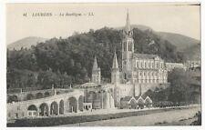 France - Lourdes, La Basilique - 1920's postcard