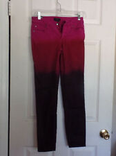 BEBE  BEAUTIFUL COLORED JEANS MIDNIGHT OMBRE NWT SZ 27