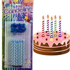 12 Candeline Torta Compleanno Anniversario Celesti Bianche Bambini Feste 504