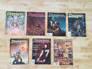 Dungeon Adventures Magazine Lot: Issues 32,57,66,68,69,70,71