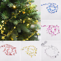 7.5M Hanging Star Pine Christmas Tree Garland Party Wedding Xmas Decor Ornaments