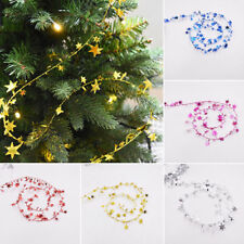 7.5M Hanging Star Pine Christmas Tree Garland Party Wedding Xmas Decor Ornaments