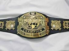 WWE Undisputed Championship Belt Replica Title Belt Real Leather Strap BrasS
