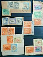 Aden beautiful 1951 KGVI surcharge high values used on pieces + QEII, CV £110+++