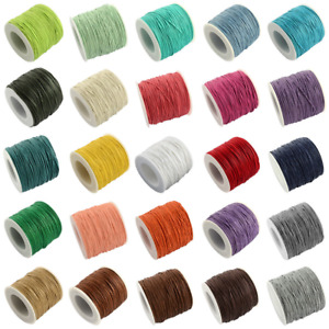 100yards/roll Waxed Cotton Thread DIY Crafting Cords Jewelry Beading String 1mm