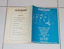 Spartiti RICCHI & POVERI Omonimo Same Cetra 1974 Songbook Vocal sheet music e