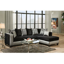 Flash Furniture Riverstone Implosion Black Velvet Sectional