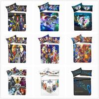 3D Anime Kingdom Hearts Bedding Set Duvet Cover Pillowcase Quilt/Comforter Cover