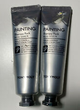 TONYMOLY Painting Therapy Pack Sebum Control [Black Clay] 1.06oz. 2pc. Lot NEW
