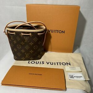Brand New Louis Vuitton Nano Noe Monogram Made in France - with Receipt