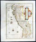 1639+Jan+Jansson+Original+Antique+Map+of+Peru%2C+South+America+-+Spanish+Invasion