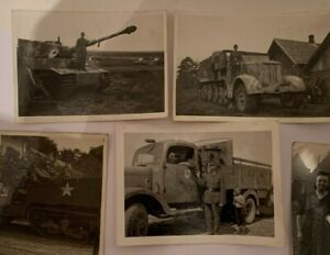 10 x original Foto 2. Weltkrieg Soldaten Panzer LKW guter Zustand WW 2
