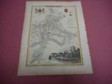 100% ORIGINAL HEREFORD CITY PLAN MAP BY ROPER COLE C1805 VGC HAND COLOURED