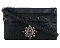 GOTHX SKULL HEAD STAR Crystal Ladies Handbag Clutch Evening Rock Goth Gothic Bag