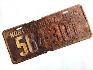 Vintage 1930 North Carolina License Plate Rusty Rough Country Garage Man Cave