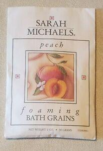 Vintage Sarah Michaels Foaming Bath Grains Peach