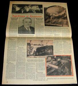 R.S REYNOLDS METALS 1941 PICTORIAL ALCOA ALUMINUM + BEN HOGAN 1941 COMIC CAMEL
