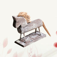 1Pc Wooden Horse Statue Durable Horse Craft Figurine Ornament for Home Office