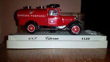 1980 Solido Citroen C4F Fire Vehicle Sapeurs Pompiers Tanker, # 4422, 1:43 NIE