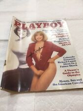 Hugh Hefner Signed Playboy August 1984 Rare Look Good Condition Collect Item