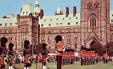 Changing of the Guard Ottawa Postcard Parliament Building Ontario Canada