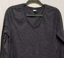 f5ab7a02ae94a Vogo Womens Sz XL Athletic Shirt Gray Long Sleeve V-Neck Poly Blend Workout  Top