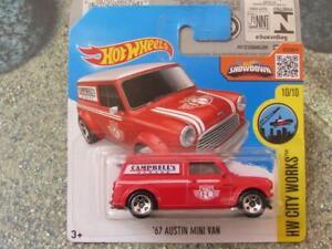 Hot Wheels 2016 #175/250 1967 AUSTIN MINI VAN red HW City Works Case D