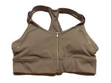ATHLETA Women's Zip It Racerback Adjustable Straps Sports Bra Gray Size XS