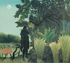 Rousseau Henri: the Charmer Of Snake - Lithography Original Signed, 1976