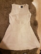 Oasis cream real leather dress size 14