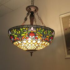Chloe Lighting Tiffany Style 3 Lt Inverted Ceiling Lamp CH36939GV20-UH3