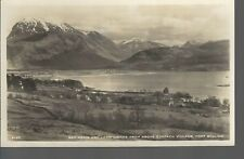 Ben Nevis & Loch Linnhe from above Corpach  Fort William Old Unposted Real Photo