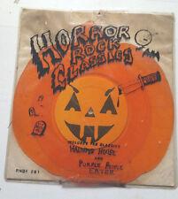 "Halloween HORROR ROCK CLASSICS Pumpkin Shaped Orange Vinyl RHINO RNDF 281 7"" ep!"