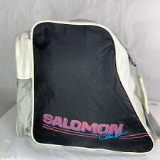 "Vintage Salomon Club Ski Boot Bag Black Pink '80s -'90s Made In Korea 18""x14"""