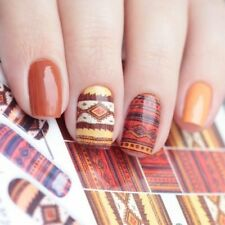 Bohemia Stripe Pattern Transfer Water Stickers Decals Nail Art Decoration Tips !